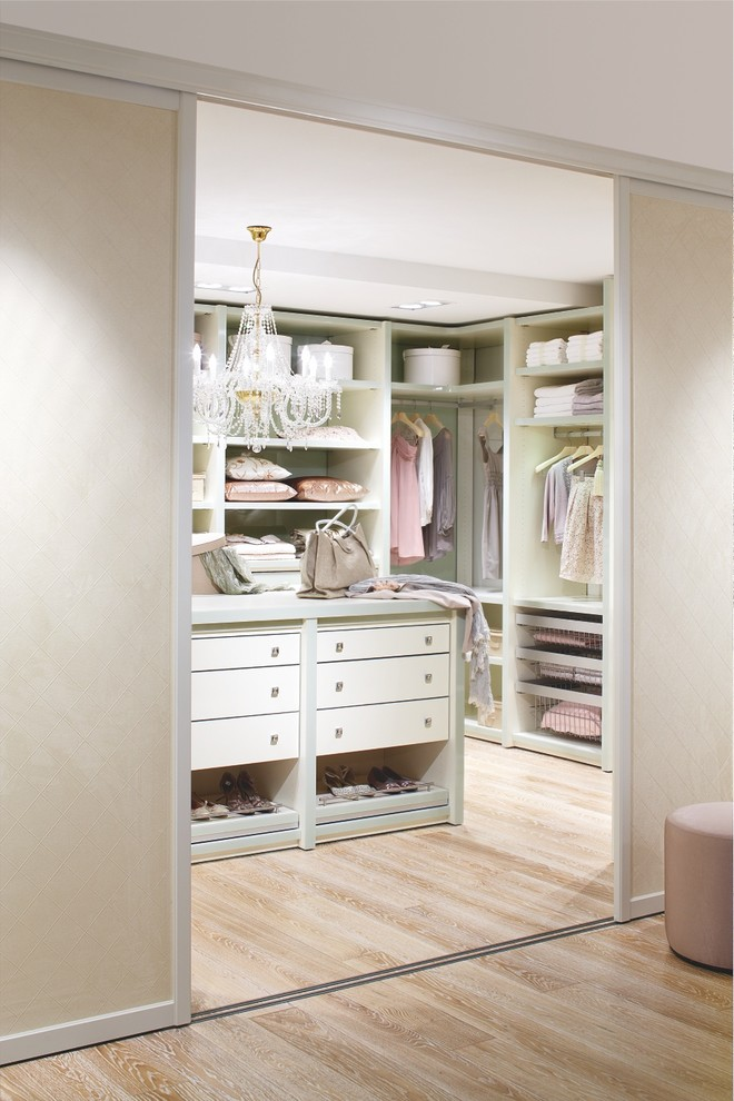Sliding doors is a perfect way to hide a walk-in closet.