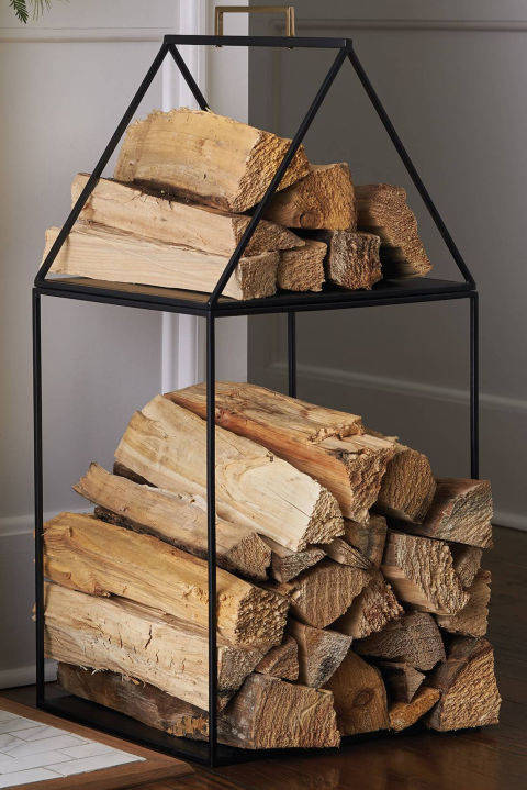 $70 BUY NOW Split logs look even homier when they're stored in, well, a house. You'll be waiting for the temperature to drop just so you can build a roaring fire.