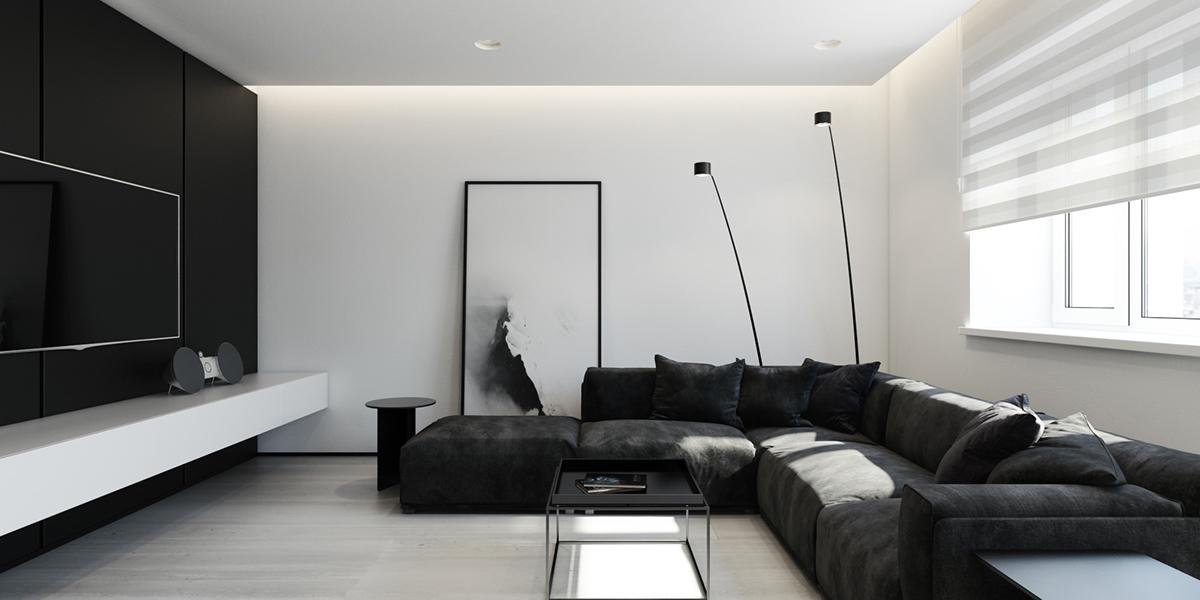 Image result for black and white interior design
